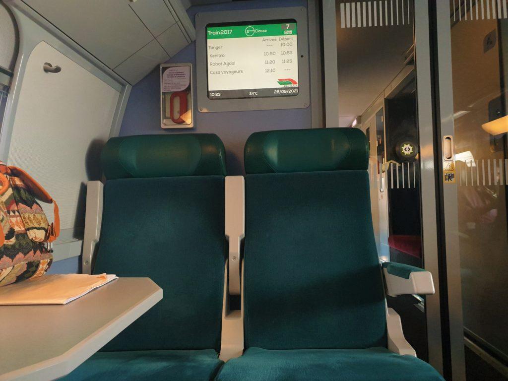 Morocco Train Second Class Seat